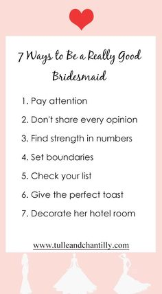 7 ways to be a really good bridesmaids, 2020 wedding tips#wedding #weddinginspiration #bridesmaids #bridesmaiddresses #bridalparty #maidofhonor #weddingideas #weddingcolors #tulleandchantilly
