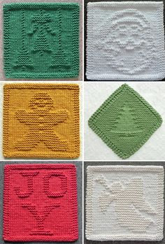 Knitting Pattern for Christmas Cloths - Wash or dish cloths with holiday motifs . Knitting Pattern for Christmas Cloths - Wash or dish cloths with holiday motifs . Record of Knitting Wool spinning, we. Knitted Dishcloth Patterns Free, Knitting Squares, Knitted Washcloths, Knitting Patterns Free, Crochet Patterns, Free Knitting, Free Christmas Knitting Patterns, Simple Knitting, Stitch Patterns
