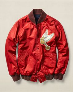 RRL Reversible Baseball Jacket by Ralph Lauren.this is definitely down Just Blaze's alley right here lol New Outfits, Casual Outfits, Ralph Lauren Jackets, Apparel Design, Streetwear Fashion, Outerwear Jackets, Street Wear, Jackets For Women, Menswear