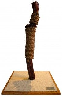 Handmade Natural Cat Scratcher - Corkscrew