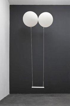 • BALLOON CHAIR • installation by DOROTA BUCKOWSKA (born in1971) •