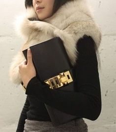 CLUTCH: http://www.glamzelle.com/collections/accessories/products/collier-de-chien-medor-gold-hardware-clutch-4-colors-available