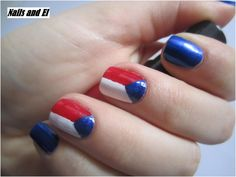 Day 28 - Inspired by a flag http://nailsandel.blogspot.cz/