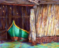 The Venetian Boathouse Painting  - Winona Steunenberg