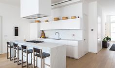 Custom kitchens and residential millwork New York City Apartment, Custom Kitchens, Minimalism, Living Spaces, New Homes, Floor Plans, The Unit, Street, Interior