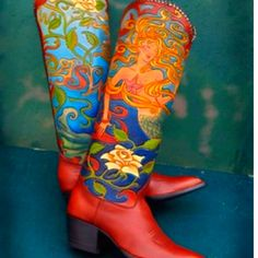 Rocket buster mermaid boots.  Not a boot fan, but I love the detail & color.