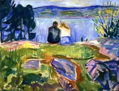 bofransson:  Budding Leaves Edvard Munch - 1911-1915
