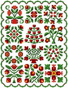 Baltimore Quilt - Quilts cross stitch pattern designed by Ursula Michael. Category: Flowers.