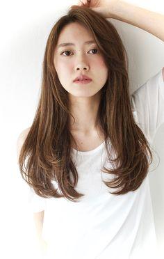 Haircuts For Long Hair, Long Hair Cuts, Korean Long Hair, Medium Hair Styles, Curly Hair Styles, Hair Color Asian, Japanese Hairstyle, Hair Reference, Long Layered Hair