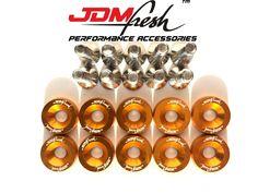 JDMFresh CNC Billet Aluminum Engine Bay Fender Washer Bolt Dress Up Kit For 8mm Blue