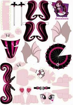 Monster High: Draculaura 3D para imprimir gratis. 2 modelos diferentes.