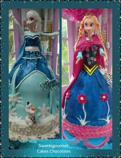 Elsa and Anna  from the movie Frozen