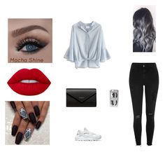 """""""street style"""" by pauline02 ❤ liked on Polyvore featuring Chicwish, River Island, NIKE, Lime Crime, Chiara Ferragni and Balenciaga"""