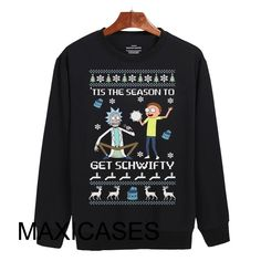 rick and morty ugly christmas Sweatshirt Sweater Unisex Adults size S to 2XL They are an original inspired design. The words used in the title and