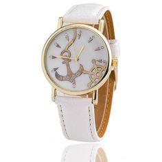 Fashion Anchor Watch Relogio Feminino Women Watch Leather Strap Watches  Quartz Watch Gift bc4628b42d