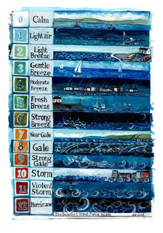 Beaufort Scale - Driftwood Designs