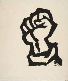 """grupaok: """"L'Atelier Populaire, serigraph of raised fist, c. Protest Kunst, Protest Art, Renoir, Front Populaire, Fist Tattoo, Raised Fist, Graphic Design Posters, Art Studies, Chalk Art"""