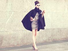 7 Fab Ways to #Style a Cape Coat ... → #Fashion [ more at http://fashion.allwomenstalk.com ]  #Pencil #Figure #Skinny #Elegant #Cape