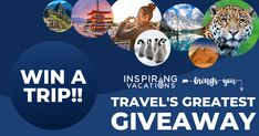 Travel's Greatest Giveaway Vacation Trips, Dream Vacations, Florida Holiday, 7 Continents, Win A Trip, South America Travel, Antarctica, Simple Pleasures