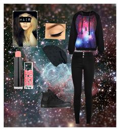 Galaxy scene outfit by emmymusiclove on Polyvore featuring polyvore, fashion, style, Karen Kane and Maybelline