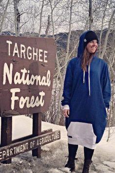 Cruisin' Happi Hoodz hits Targhee National Forest . snow . hoodie . fashion . targhee . snow . mountains . style . comfortable .