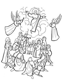 ascension of jesus coloring page - Google Search