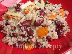Jačmenné krúpy s fazuľou Cobb Salad, Grains, Rice, Anna, Food, Eten, Seeds, Meals, Korn