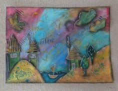 mix media Mix Media, Boards, Painting, Art, Planks, Art Background, Painting Art, Kunst, Paintings