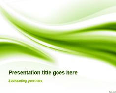 Free green abstract curves PowerPoint template gives an environmentally friendly tone to your presentations