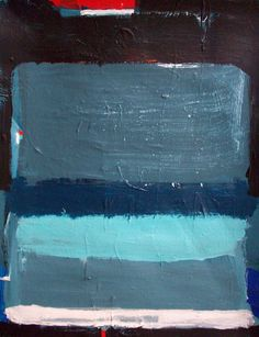 abstract minimalist color field painting blue and por ElstonART