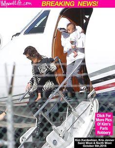 Kim Kardashian Looks Sad Arriving In LA With Kris Jenner & Kids — Where's KanyeWest?