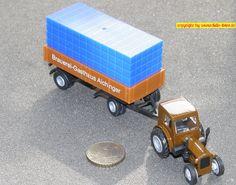 """IFA """"Pionier"""" RS-01 mit Anhänger Brauerei """"Aichinger"""" (Grell 005425/584186 T-3) 1143 15440 Molter H0"""