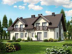 Projekt domu Trivento II Termo 121,79 m2 - koszt budowy 156 tys. zł - EXTRADOM Home Fashion, Mansions, House Styles, Home Decor, Decoration Home, Room Decor, Fancy Houses, Mansion, Manor Houses