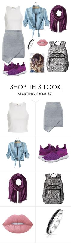 """""""Untitled #2"""" by mira-163 ❤ liked on Polyvore featuring River Island, Boohoo, NIKE, Love Quotes Scarves, Vera Bradley, Lime Crime and Bling Jewelry"""