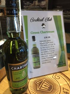 Cocktail Club spirit of the week is @chartreuseliq - if you haven't tried it before pop in and have a taste!