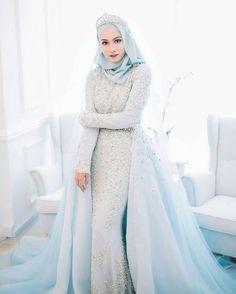 Long Blue Muslim Wedding Dress with Tiara dresses blue muslim Long Blue. Long Blue Muslim Wedding Dress with Tiara dresses blue muslim Long Blue Muslim Wedding Dre Muslimah Wedding Dress, Muslim Wedding Dresses, Muslim Brides, Wedding Dresses 2018, Bridesmaid Dresses, Muslim Couples, Dress Muslimah, Hijab Dress, Bridal Hijab