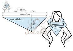 Střihy šikulíci – návod na šálo-šátek či … – Šiklíci Schnitte – Anleitung für Schal – … # Komplettlösung # šálošátek Sewing Scarves, Sewing Clothes, Diy Clothes, Sewing Hacks, Sewing Crafts, Sewing Projects, Neck Warmer, Free Sewing, Diy Fashion