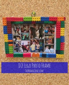 The MamaZone: DIY Lego Photo Frame This is a quick and easy craft that's perfect for kids (especially little boys). Use Lego bricks and MyPrintly.com to create this photo gift.