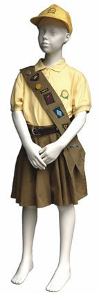 1990-2002 Brownie Guide uniform- mix and match tops and bottoms and with a sash for badges for the very first time.   When this replaced the traditional Brown dress, I wasn't impressed. I was a hardline traditionalist aged 10!
