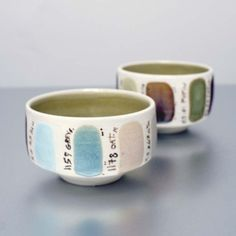 glaze sample cup by Sara Paloma