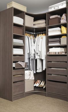 Great space creating furniture with a corner wardrobe with pull down hanging - Armoire dressing angle ...