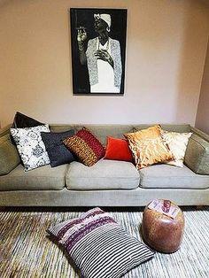 Cushions, cushions, cushions.
