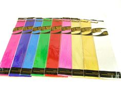 Metallic Crepe Paper- 8 Colours (Design)