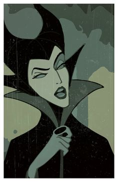 Disney Villains minimalistic poster set The Queen by PrintMadness