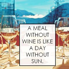 A meal without wine is like a day without sun. #Riedel
