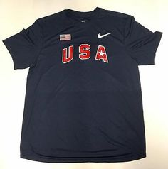 Other Mens Fitness Clothing 40892: Nike Usatf London Olympic Issued Warm-Up Tee M Track And Field Rare -> BUY IT NOW ONLY: $59.99 on eBay!
