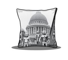 Doctor Who Cushion - Cyberman Print