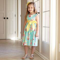 Girls Aqua Multi Color Rose Ava Sash Dress – Lolly Wolly Doodle