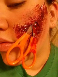 Scissor Face Special Effects Makeup