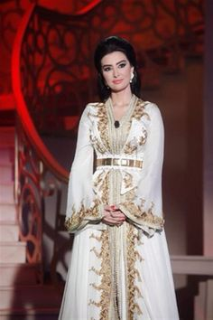 White and gold kaftan